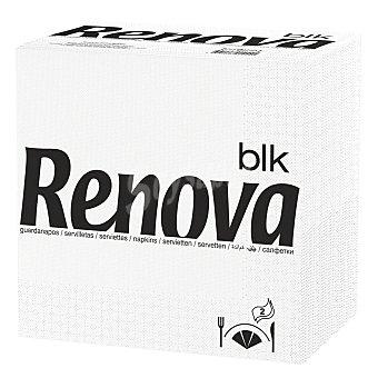 RENOVA Servilletas blancas 2 capas 40x40 cm paquete 75 unidades