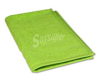 Productos Económicos Alcampo Toalla 100% algodón color verde para tocador, densidad de 360 gramos/m², 30x50 centímetros 1 unidad