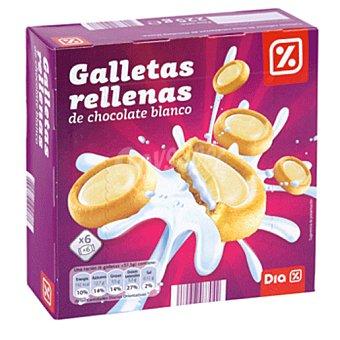 DIA Galletas rellenas de chocolate con leche blanco con forma de luna Paquete