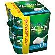 Yogur desnatado bífidus natural edulcorado 0% M.G Pack 8 unidades x 125 g Activia Danone