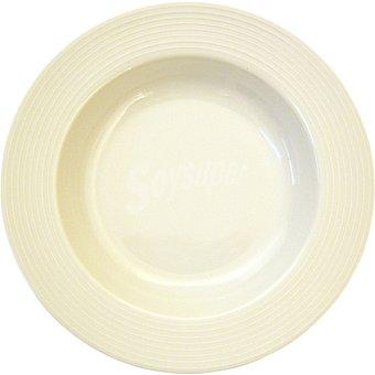 SANTA CLARA Plato Hondo de porcelana en color blanco 1 Unidad
