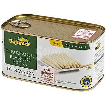 Bajamar Espárragos blancos extra gruesos D.O. Navarra 9-12 piezas lata 500 g neto escurrido