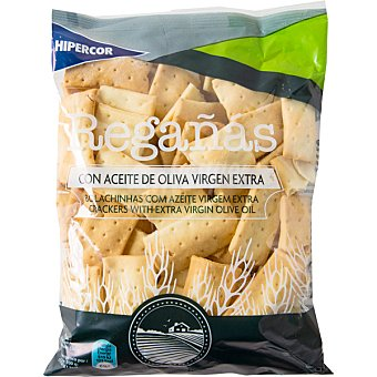 Hipercor Regañas de pan con aceite de oliva virgen extra Bolsa 180 g