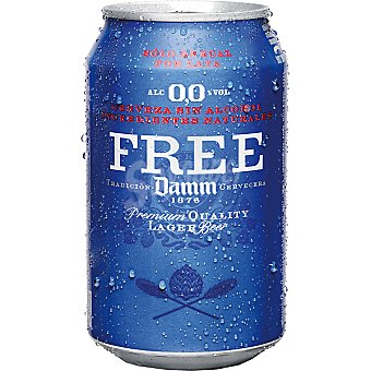 Free Damm Cerveza sin alcohol Lata 33 cl
