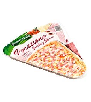 Fuentetaja Porción Pizza Jamón y Queso Elaborada en Envase 210 gr