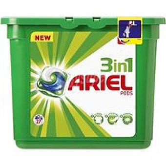 Ariel Detergente líquido en cápsulas 3n1 Caja 27 dosis
