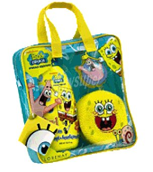Bob Esponja Estuche gel 60 ml+champu+acondicionador 400 ml Pack de 3