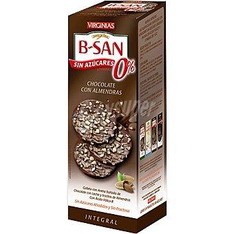 VIRGINIAS B-SAN Galletas con chocolate y almendras sin azúcares añadidos y sin fructosa Paquete 120 g