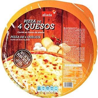 Aliada Pizza 4 quesos cocida en horno de piedra  envase 365 g
