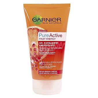 Skin Naturals Garnier Gel exfoliante Fruit Energy con extractos de Pomelo Granada y vitamina C tubo 150 ml para pieles grasas a mixtas Tubo de 150 ml