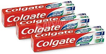 Colgate Pack de 3 Dentífricos Colgate Triple Acción Pack de 3