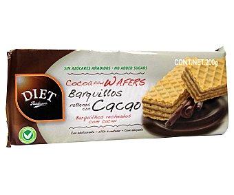 Diet Rádisson Barquillos rellenos de cacao 200 gramos