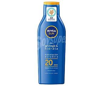 Nivea Leche solar hidratante FPS 20 (medio) Bote 200 ml