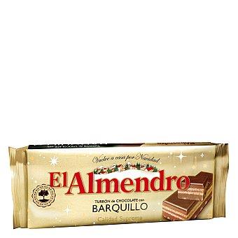 El Almendro Turrón de chocolate con barquillo 285 g