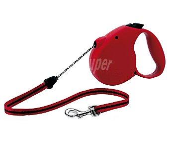 Flexi Correa para perro de cordón rojo 3 metros Talla -XS