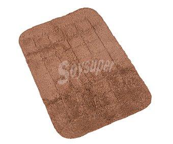 Auchan Alfombra nudo antideslizante color marrón, 40x60 centímetros 1 Unidad