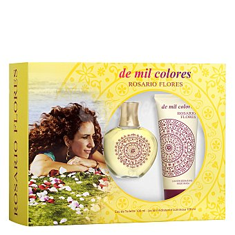 Rosario Flores Estuche colonia De Mil Colores 100 ml. y loción hidratante 100 ml. 1 ud
