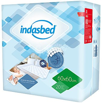 IndasBed Protector de cama absorbente 60x60 cm Bolsa 20 unidades