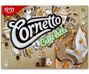 Cornetto Helado cono café latte pack de 4x90 ml