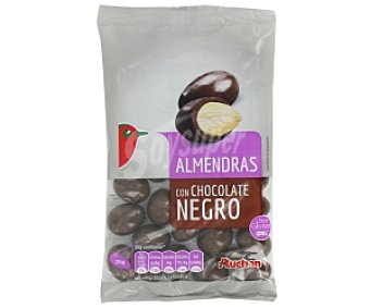 Auchan Grageados almendra chocolate negro 150 Gramos