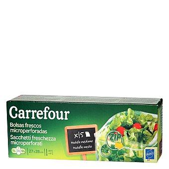 Carrefour Bolsas de conservación medianas con cierre Zip de 27 x 28 cm. 15 ud