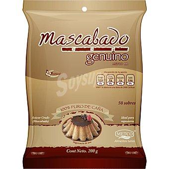 METCO azúcar mascabo 50 sobres bolsa 200 g
