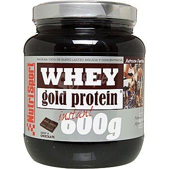 NUTRISPORT Proteína 100% de suero lácteo sabor chocolate Whey Gold Envase de 600 g