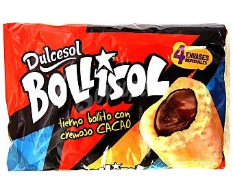 DULCESOL Pastelitos Bollisol Cacao 4unidades (300 g)