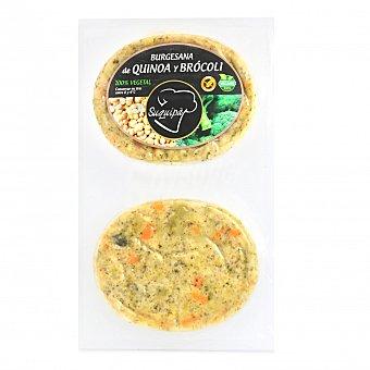 Suquipà Hamburguesa de Quinoa y Brocoli 100% Vegetal Burguesana (2x90g) 180 G 2 x 90 g