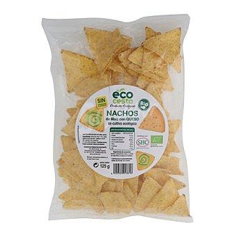 Ecocesta Nachos de maíz con queso de cultivo ecológico 125 gramos