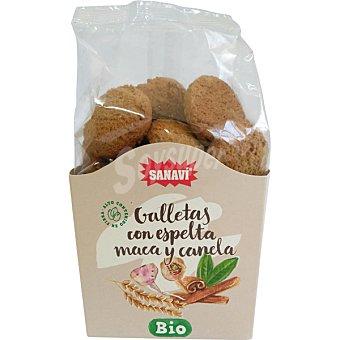 Sanavi Galletas con espelta, trigo y canela ecológicas bolsa 200 g bolsa 200 g