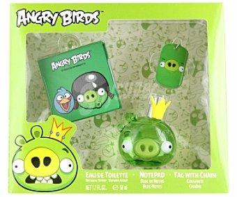 Angry Birds Estuche Eau de Toilette 50ml + bloc de notas + colgante 1 Unidad