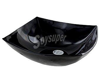 LUMINARC Ensaladera de 24 centímetros modelo Quadrato, fabricado en vidrio opal de color negro y con diseño cuadrangular 1 Unidad