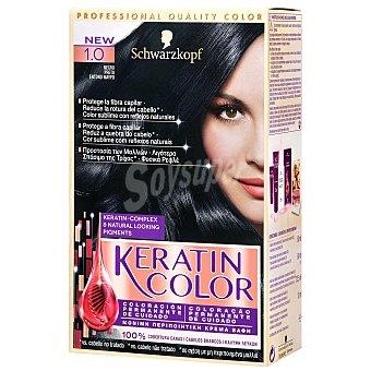 Keratin Color Schwarzkopf Coloración tinte negro nº 1.0 1 unidad