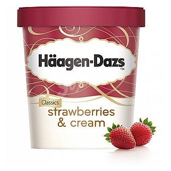 Häagen-Dazs Helado de crema y fresa con trozos de fresa Strawberries & Cream Tarrina de 500 ml