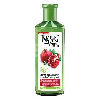 Natur Vital Champú Bio fortificante 99% natural de granada y ginseng 300 ml