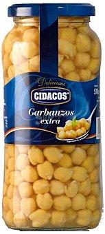 Cidacos Garbanzos cocidos extra al natural Frasco 400 g neto escurrido