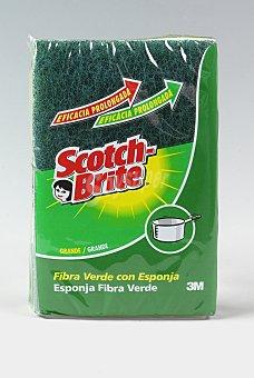 Scotch Brite Estropajo Fibra Verde 1 Unidad