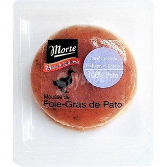 Morte Mousse de foie gras de pato 100% con mermelada de higos al oporto envase 100 g Envase 100 g