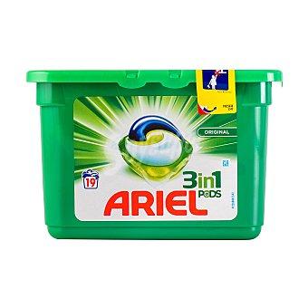 Ariel Detergente lavadora liquido capsulas actilift ropa color y blanca 3 en 1 Tarrina 19 u