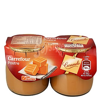 Carrefour Postre toffe - Sin Gluten Pack 2x135 g