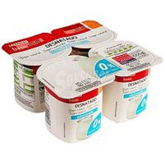 Eroski Basic Yogur desnatado natural edulcorado Pack 4x125 g