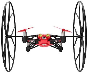 PARROT ROLLING SPIDER Mini Drones Rojo, ruedas desmontables, uso interior y exterior, permite hacer flips, alcance de 20m, cámara fotográfica, pilotaje mediante smartphone o tablet, 8 minutos de autonomía, conexión Bluetooth. 1 Unidad