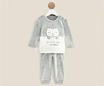 In Extenso Pijama pelele largo de terciopelo para bebé talla 86 talla 86.