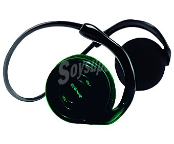 Best buy 1796 Auricular deportivo con micrófono, batería, Bluetooth, color negro