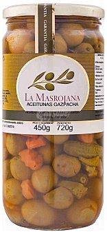 La Masrojana Aceitunas gazpacha Frasco 450 g (peso neto escurrido)