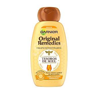 Garnier Champú reconstituyente tesoros de miel para cabello dañado y quebradizo Frasco 250 ml