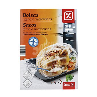 DIA Bolsas para asar horno y microondas Paquete 12 uds