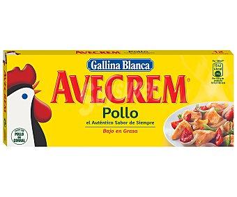 Avecrem Gallina Blanca Caldo de Pollo Caja 12 Pastillas (120 Gramos)