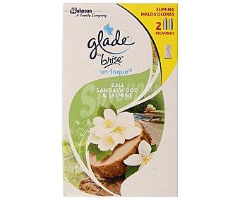 Glade Un Toque Recambio de ambientador en spray con aroma a caricias Caja 2 unidades